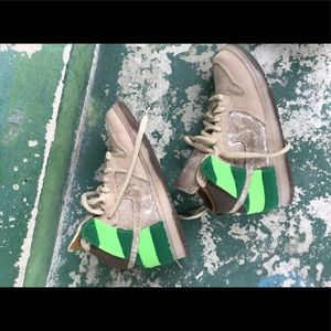 "CUSTOM Nike Dunk High Premium ""Sandman"" size 9"